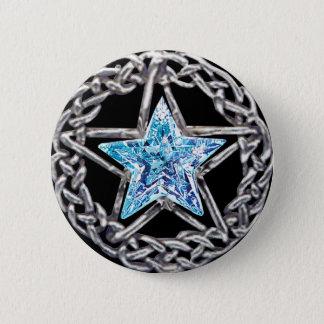 Pentagram Crystal Star Button