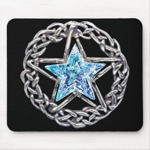 Pentagram Crystal Star Mouse Pad