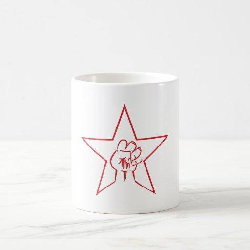 Pentagram fist pentagram fist coffee mug