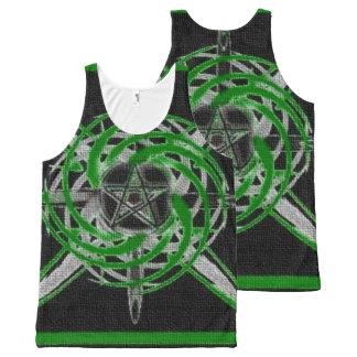 Pentagram Green All-Over Print Tank Top