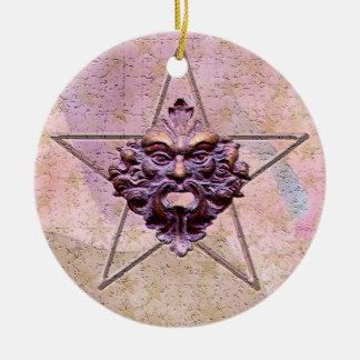 Pentagram Green Man Sculpture 1M Christmas Ornament