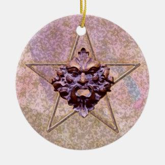 Pentagram Green Man Sculpture 3A Ornaments