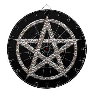 Pentagram Hammered Chrome Dart Board