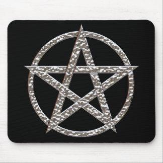 Pentagram Hammered Chrome Mousepad