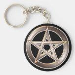 pentagram key chain