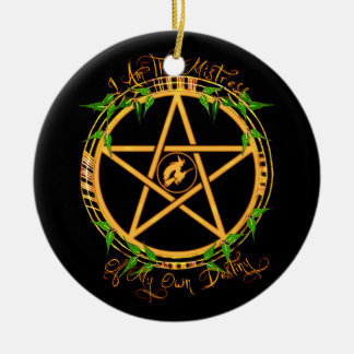 Pentagram Mistress of Destiny Yule Ornament