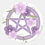 ♥ Pentagram ♥ (mystical-1) Round Sticker