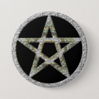 Pentagram Pentacle Unisex Wicca Button
