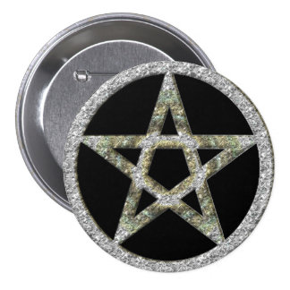 Pentagram Pentacle Unisex Wicca Button