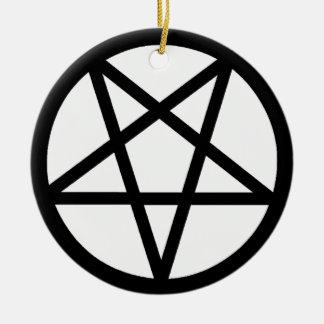 Pentagram Round Ceramic Decoration