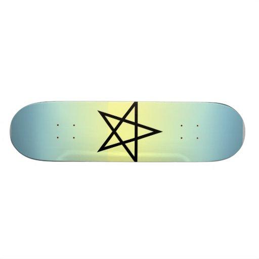 pentagram skate board deck