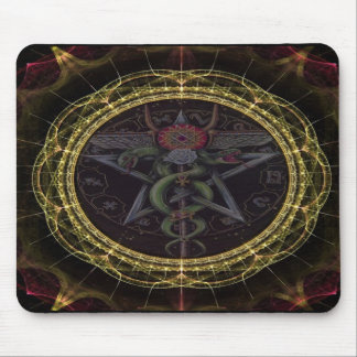 Pentagram Snakes Mouse Mat