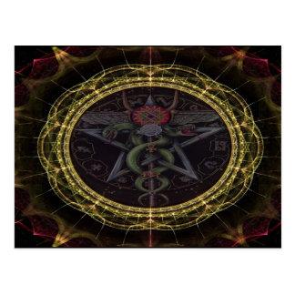 Pentagram Snakes Postcard