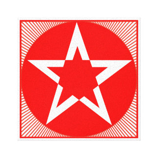 Pentagram Star Art Gallery Wrapped Canvas