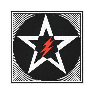 Pentagram Star Lightning Bolt Art Stretched Canvas Print