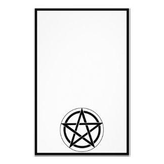 Pentagram Symbol on White Personalized Stationery