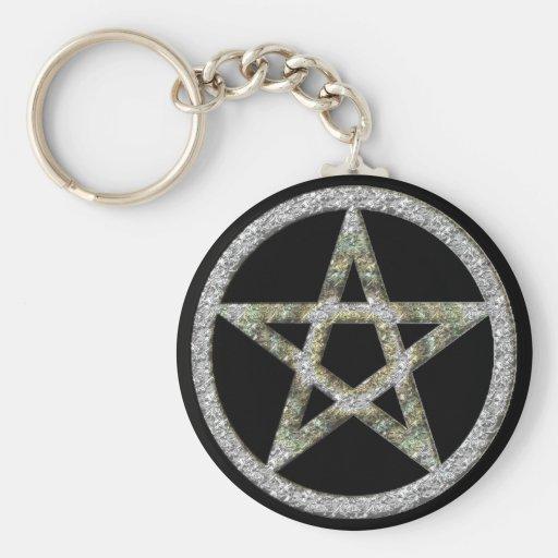 Pentagram Unisex Wicca Witch Magic Keychain