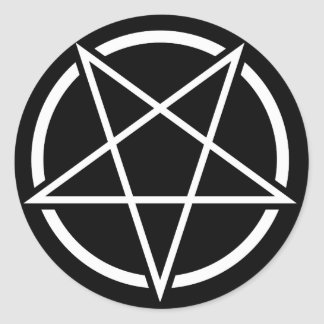 Pentagram (white) No.1 Classic Round Sticker