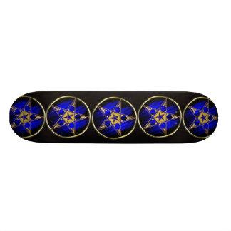 Pentagram with Inverted Star Skateboard