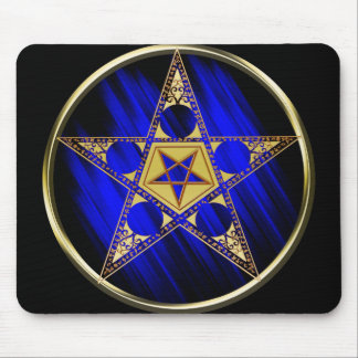 Pentagram With Upside Down Star Mouse Pad