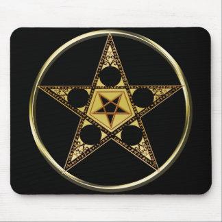 Pentagram With Upside Down Star Mousepad