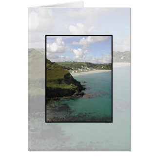 Pentewan. Cornwall. Scenic coastal view. Card