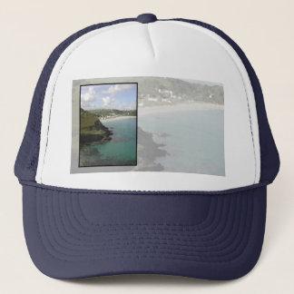 Pentewan. Cornwall. Scenic coastal view. Trucker Hat