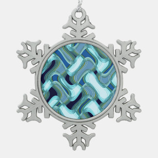 Penthouse & Pavement Pewter Snowflake Ornament