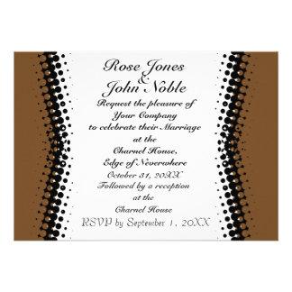 Penumbra Ivory (Brown) Wedding Invitation