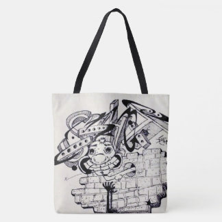 Penwork All-Over-Print Tote Bag
