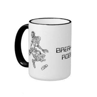 """Penxs """"Breakfest Robot """" Ringer Mug"""