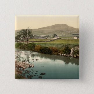 Penyghent, Yorkshire, England 15 Cm Square Badge