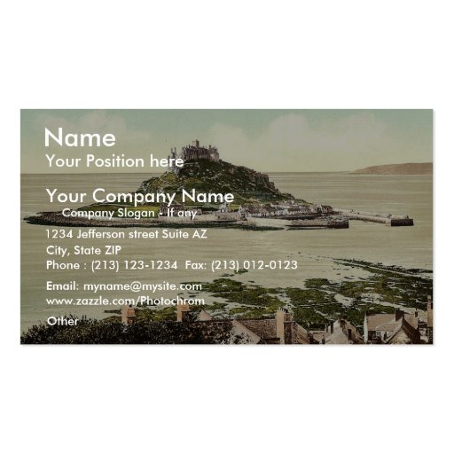 Penzance, St. Michael's Mount, Cornwall, England c Business Cards