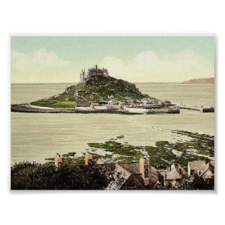 Penzance, St. Michael's Mount, Cornwall, England c Poster