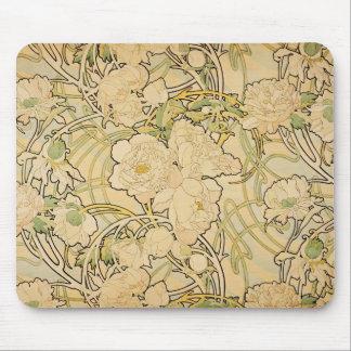 Peonies 1897 mouse mat