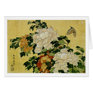 Peonies and Butterfly Card