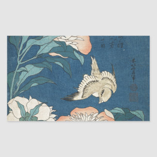 Peonies and Canary Sticker