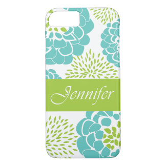 Peonies and Mums Personalized Smartphone Case