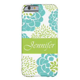 Peonies and Mums Personalized Smartphone Case Barely There iPhone 6 Case