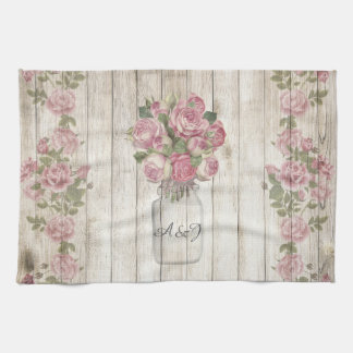 Peonies and Roses. Tea Towel