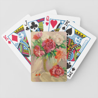 Peonies Bicycle Playing Cards