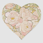 Peonies by Alphonse Mucha Sticker