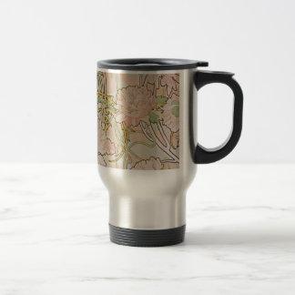 Peonies by Alphonse Mucha Travel Mug