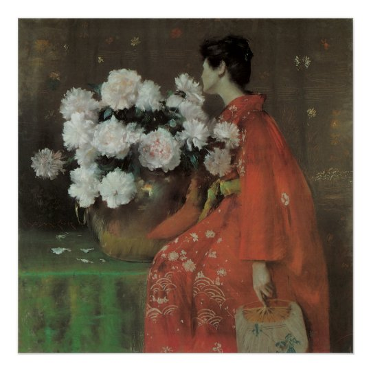 Peonies by William Merritt Chase, Vintage Fine Art