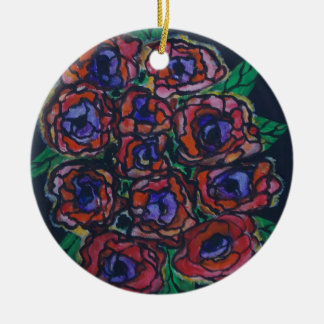 Peonies Christmas Ornament