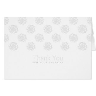 Peonies Digital Paper Cut-Out Sympathy Thank You Note Card