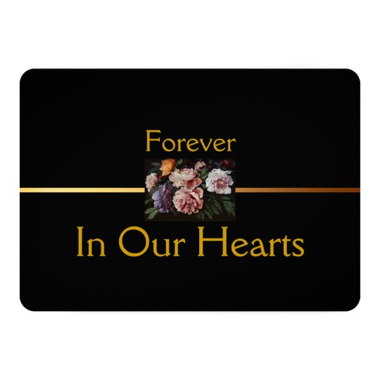 Peonies Floral Painting 2 Funeral Announcement