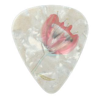 Peonies Ranunculus Anemones Pearl Celluloid Guitar Pick