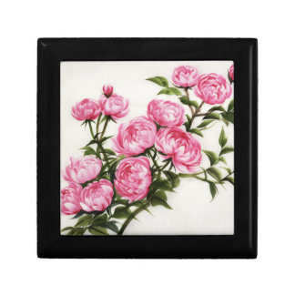 Peonies Small Square Gift Box