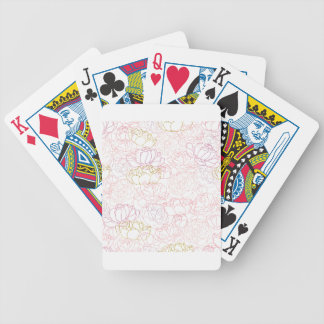 Peonies touch of gold bicycle playing cards